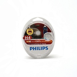 Лампа галогеновая Philips H4 12V 60/55W X-treme Vision G-force +130%