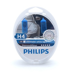 Лампа галогеновая Philips H4 12V 60/55W P43t Diamond Vision