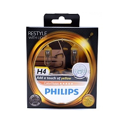 Лампа галогеновая Philips H4 12V 60/55W ColorVision Yellow