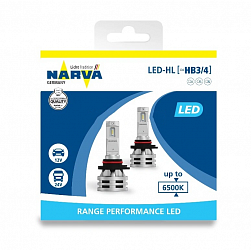 Лампа светодиодная Narva HB4 12/24V RPL2 Range Performance LED 6500K